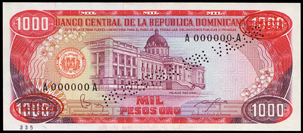 Dominican Rep 1000 pesos 1984