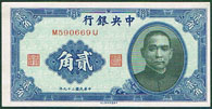 China 20 cents 1940 Pick 227