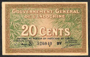 French Indo China 20 cents 1939 (Pick 86d)