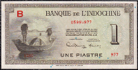 French Indo-China 1 piastre 1945 (Pick 76a)
