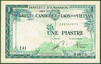French Indo-China 1 piastre 1954 Pick 105