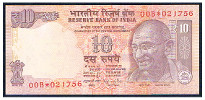 India 10 rupees star 215