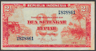 Indonesia 2 and a half rupiah, 1951 (Pick 39)