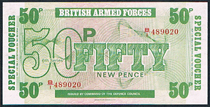 British armed forces 50 pence Pick M49