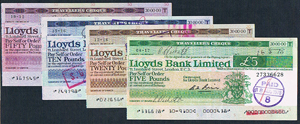 GB Lloyds travellers cheques