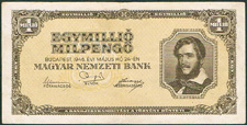 Hungary one million milpengo 1946 Pick 128
